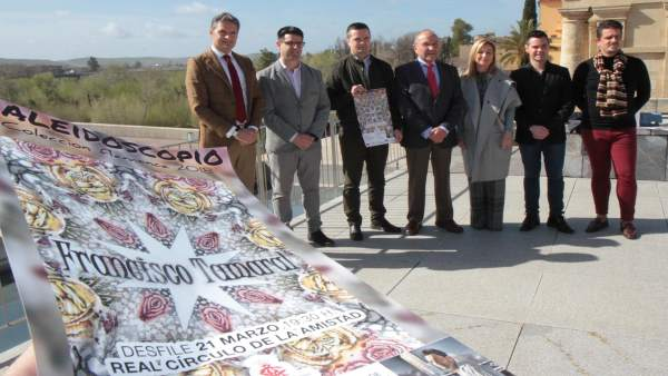 Presentación del desfile flamenco a beneficio de la Fundación Hugo García