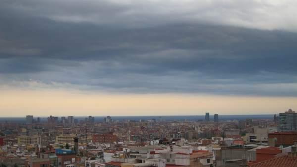 Skyline de la ciudad de Barcelona.