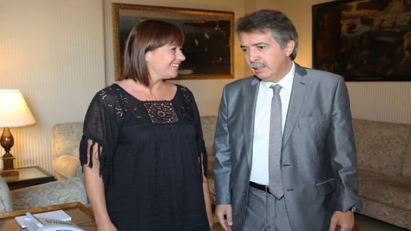 Francina Armengol y Xavier Pericay en una imagen de archivo