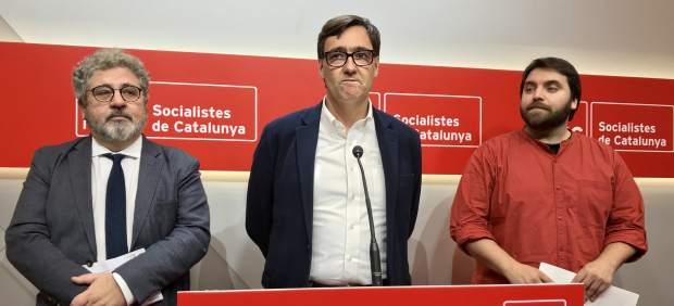 Josep Joan Moreso, Salvador Illa y Ferran Pedret, PSC.