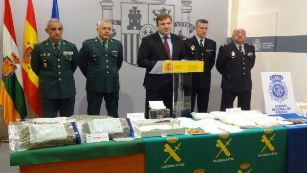 Rueda de prensa sobre operación drogas en La Rioja