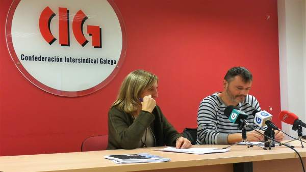 Presentación del balance sobre el mercado laboral gallego en 2017 por la CIG