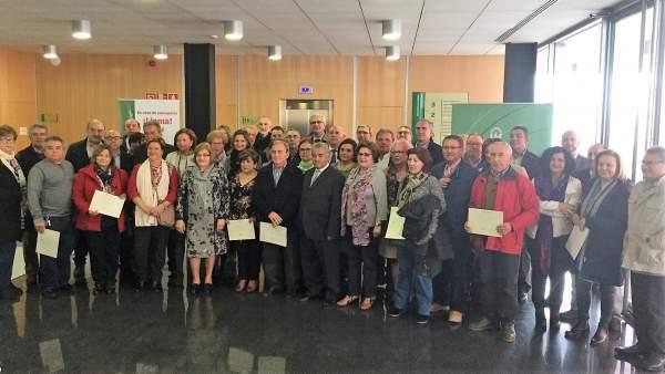 Reconocimiento a los trabajadores de la Junta en Jaén jubilados en 2017.