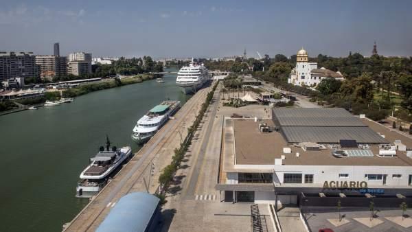 Acuario y Muelle de las Delicias en Sevilla