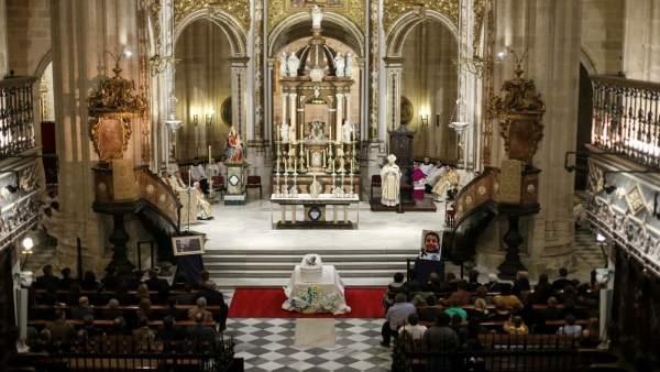 Misa funeral por el niño Gabriel Cruz en la Catedral de Almería