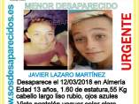 Cartel desaparición de Javier
