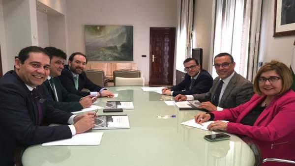 Reunió de las diputaciones de Huelva, Cáceres y Badajoz