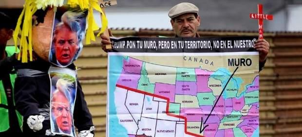 Protestas contra el muro entre EE UU y México