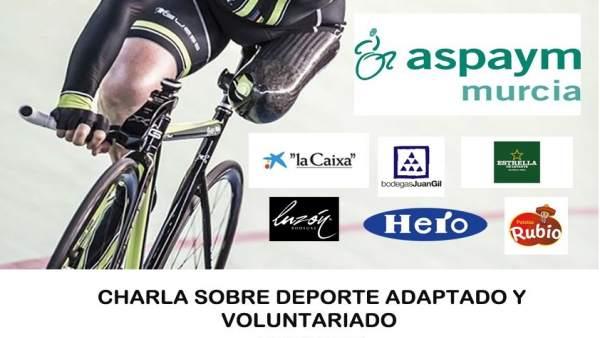 Cartel de la charla medallista paralímpico y campeón del mundo Juanjo Mendez