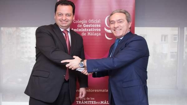 Daniel Quijada y Jorge Alcántara del colegio de Gestores Administrativos