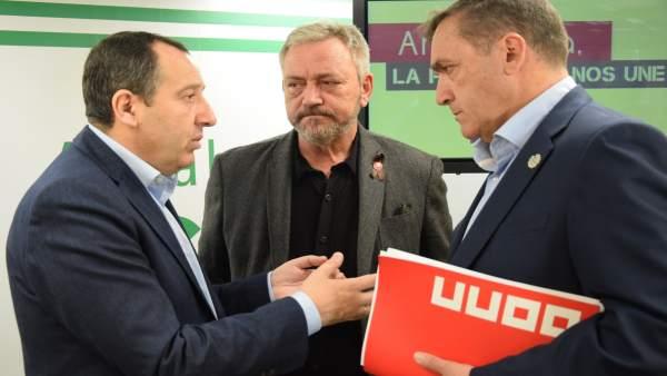 Reunión PSOE UGT Y CCOO