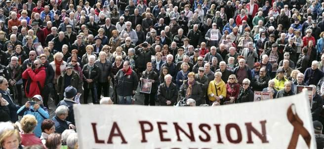 Manifestación de jubilados.