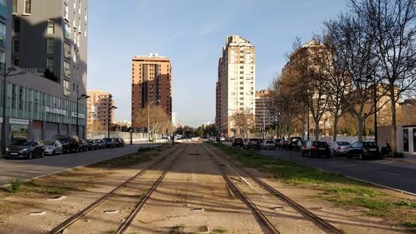 Obras de la futura L10 de Metrovalencia