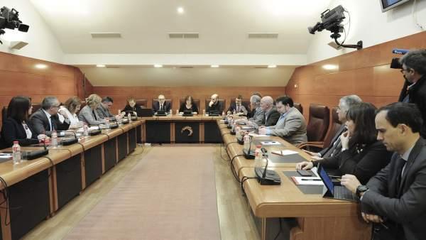 Comparecencia del rector de la UC, Ángel Pazos, en Comisión parlamentaria