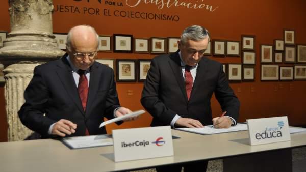 José Luis Aguirre (Ibercaja) y Carlos Ocaña (FUNCAS).