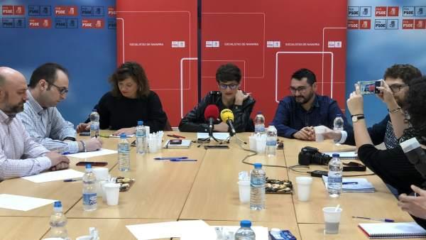 Desayuno informativo del PSN en Tudela.