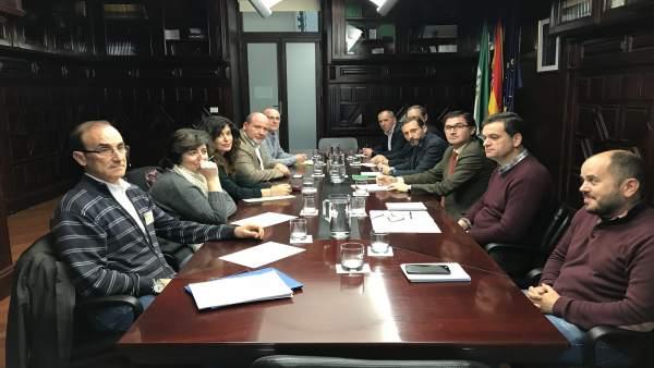 Reunión tras la anulación del PGOU por el TSJA