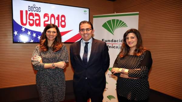 Sergio Corral Fundación Unicaja presenta el programa de becas USA 2018