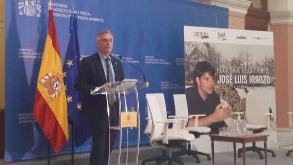 Olona ha participado en el homenaje a José Luis Iranzo.