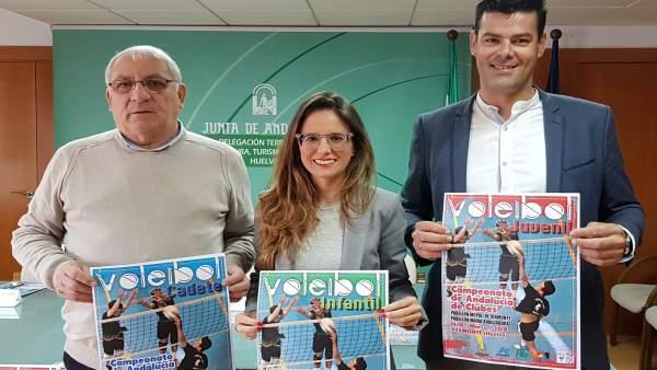 Presentan el Campeonato de Andalucía de Clubes de Voleibol.