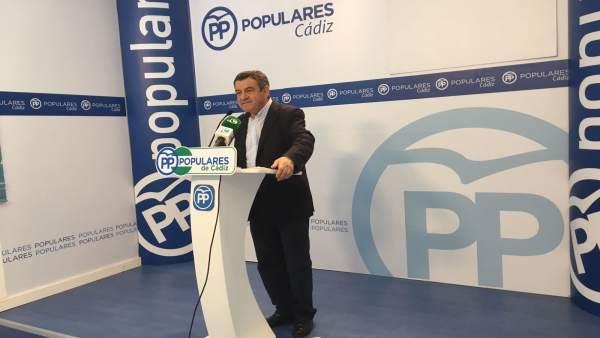 El portavoz del PP en Diputación de Cádiz, José Loaiza