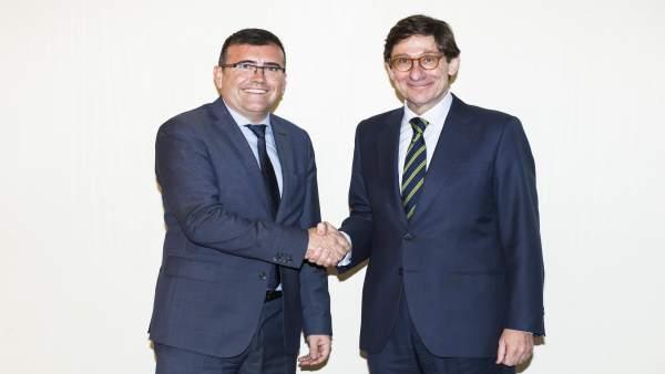Los presidentes de CajaGranada Fundación y Bankia