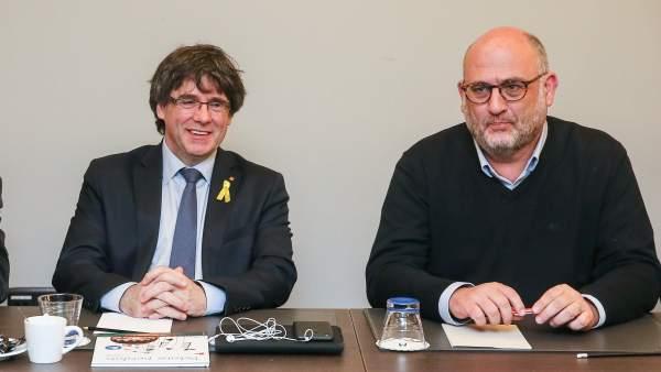 Reunión de diputados de JxCAT con Puigdemont.