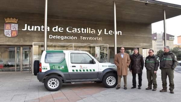 Acto de entrega de vehículos en Soria. 14-03-18