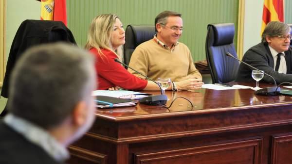 La consellera de Sanidad, Patricia Gómez, en la Comisión de Sanidad
