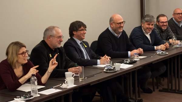 Reunión de los diputados de JxCAT.