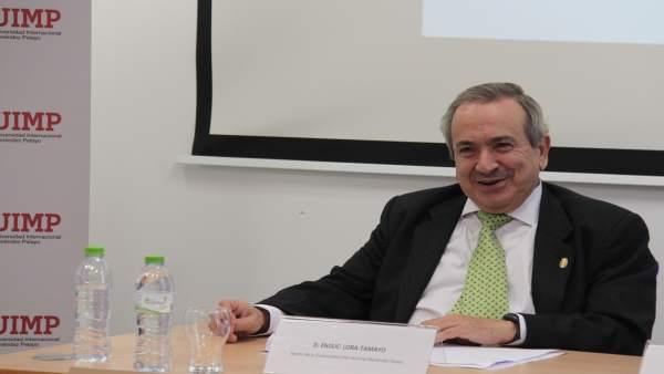 El rector de la UIMP, Emilio Lora-Tamayo