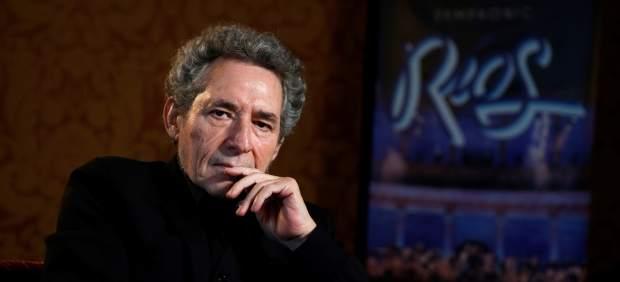 El cantante Miguel Ríos durante la entrevista concedida a Efe en la que ha hablado de su último proyecto, 'Symphonic Ríos'.