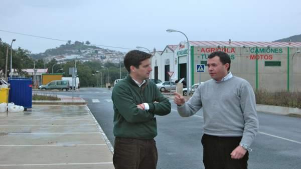 José Enrique Borrallo, con García Longoria.