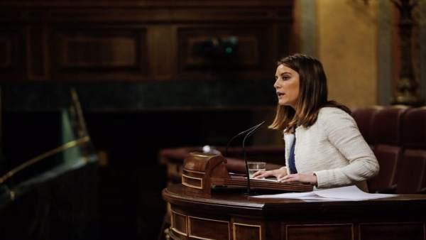 La diputada de Cs por Sevilla, Virginia Salmerón, en el Congreso