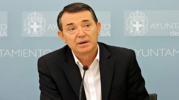 El portavoz del PSOE en el Ayuntamiento de Almería, Juan Carlos Pérez Navas