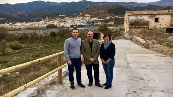 El delegado de Turismo acude a la vía verde del Almanzora