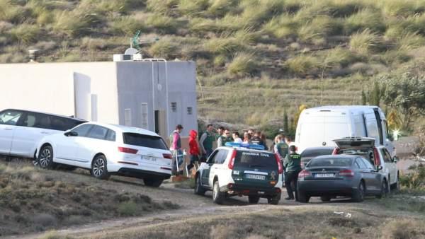 La Guardia Civil traslada a Ana Julia a la finca del valle de Rodalquilar