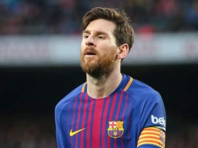 Messi, autor del primer gol ante el Chelsea