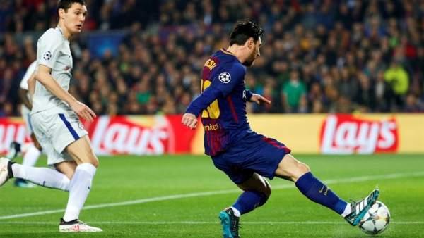 Gol cien de Messi en Champions