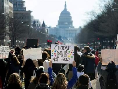 Protesta estudiantil contra las armas en EE UU