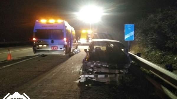 Accidente de tráfico en Llanera.