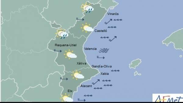 El cel s'aclarirà aquest dijous a la vesprada a la Comunitat Valenciana