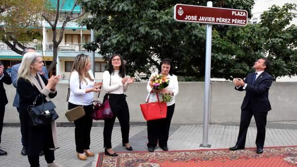 Plaza en homenaje a Javier Pérez