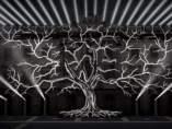 El árbol de la memoria, un mapping en la fachada del Ayuntamiento de Barcelona.