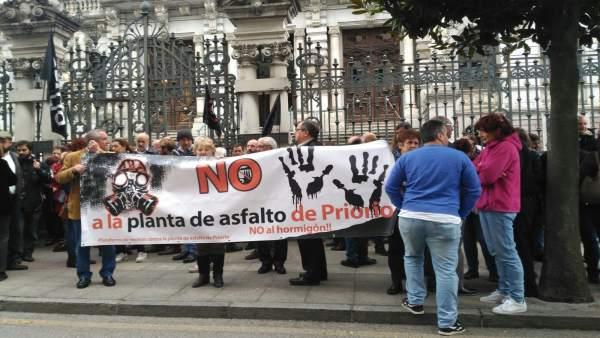 Protestas contra la planta asfáltica de Priorio