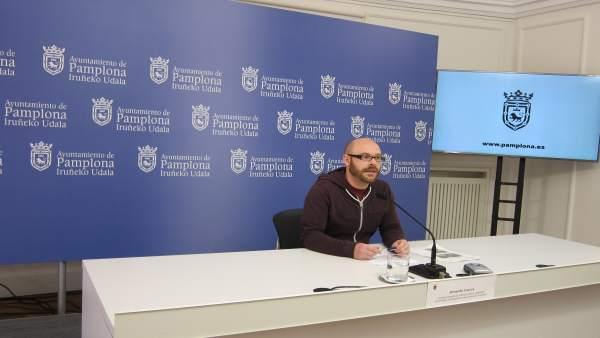 El concejal de Pamplona Armando Cuenca.