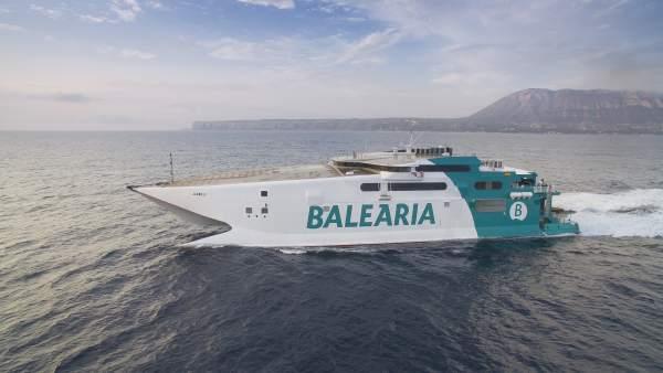 Baleària reprèn aquest estiu l'alta velocitat en la ruta Dénia-Eivissa-Palma amb una travessia de dos hores