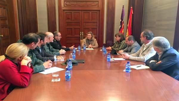 Reunión entre Delegación del Gobierno en Baleares y Vicepresidencia