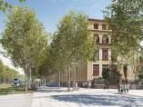 Proyecto de reforma de la Diagonal a su paso por la plaza Pablo Neruda.