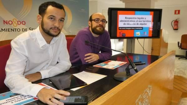 Daniel González Rojas y Raúl Febrer, en rueda de prensa